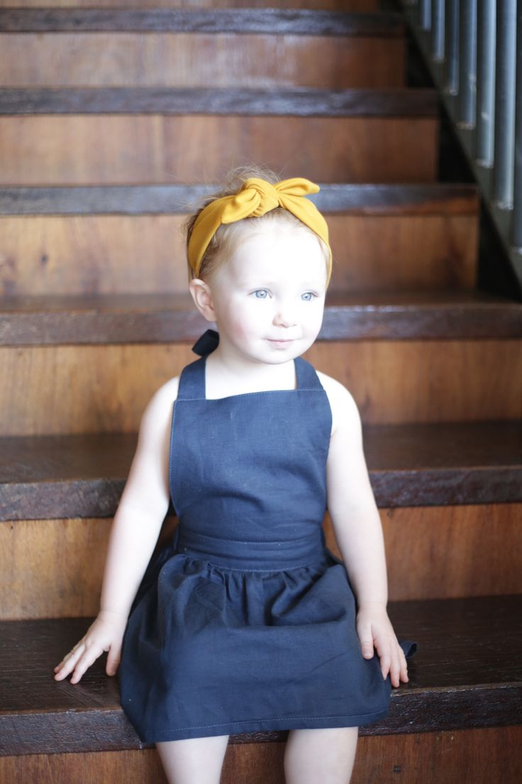 Baby Isla in our Janey Pinafore #toddler #pinafores #handmade