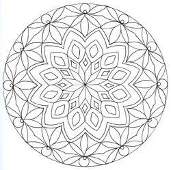 [Ecole bilingue de Baillargues] -Dessins géométriques -Mandalas à colorier -Mandala n°9