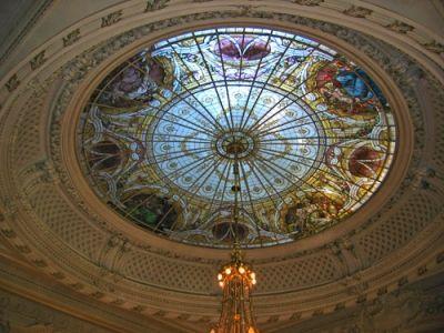 """L'hôtel """"Beau Rivage Palace"""" à Lausanne. - Salle des banquets"""