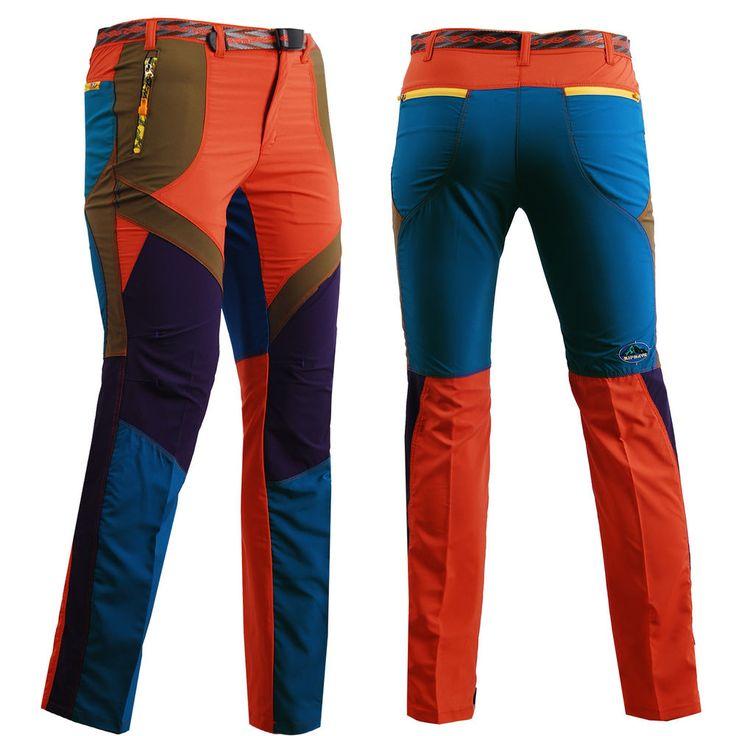 zipravs lady womens Outdoor Hiking CAMPING Trousers Climbing belt orange pants