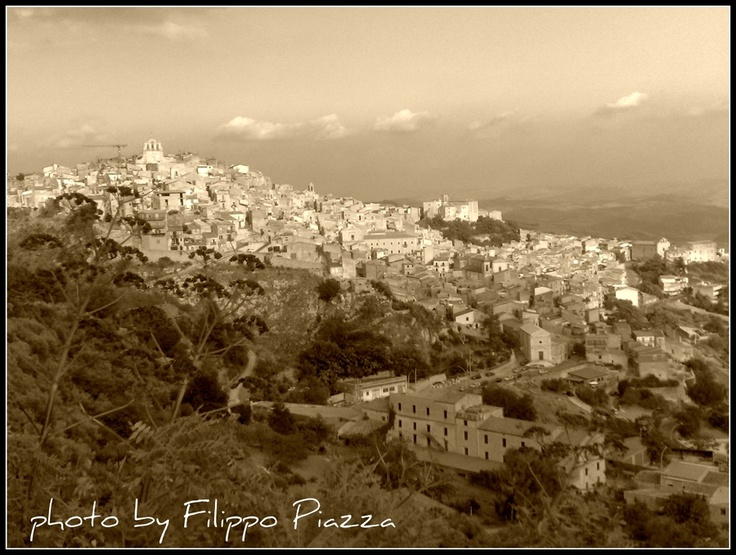 Very cool old town in Sicily Italy is born town Mussomeli