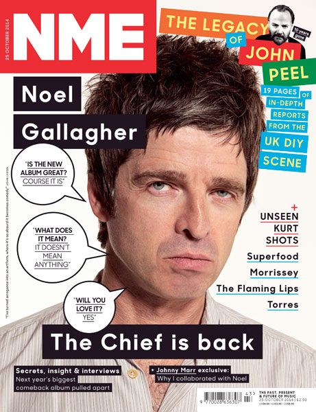 'The Chief Is Back', Noel Gallagher, 25 October 2014
