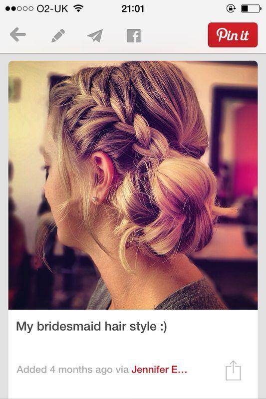 Kay bridesmaid hair