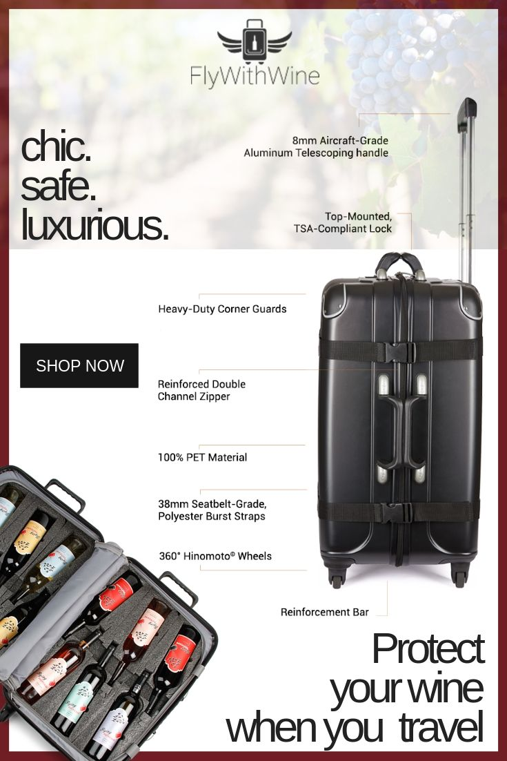 The Only Suitcase Designed To Protect Your Wine This Luggage Brings The Best Of Versatility Durability And Style Traveling By Yourself Wine Travel Luggage