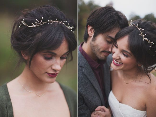 2014 Wedding Trends | Hair Embellishments | woodland hair piece