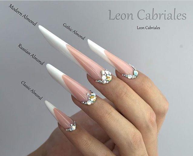 Pin on Almond \u0026 Russian Almond \u0026 Gothic Almond Shaped Nails