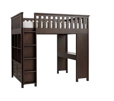 elliott full bed loft system chocolate