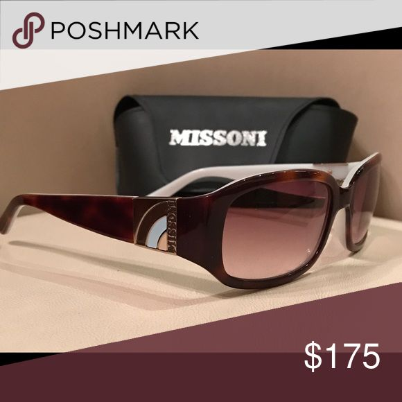 Missoni Sunglasses Beautiful two-tone white and brown coloring. NWOT Missoni Accessories Sunglasses