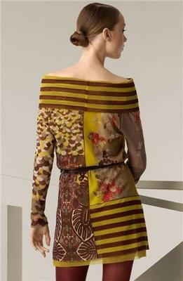 tunic top shirt mixed fabric
