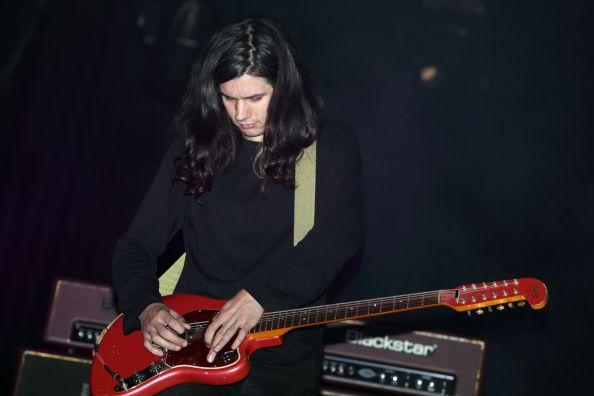 Joshua Hayward of The Horrors performs on stage at Reading Festival at Richfield Avenue on August 24 2014 in Reading United Kingdom