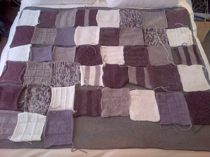 My 50 Shades Blanket!  First attempt at Knitting! #knitting
