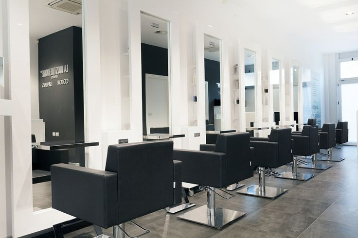 beauty salon equipment furniture gamma bross black white interior hairdresser salon. Black Bedroom Furniture Sets. Home Design Ideas