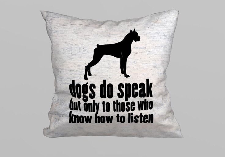 Dog Quote Pillow 45x45cm - (without Filling) by magicdallas on Etsy https://www.etsy.com/listing/249375035/dog-quote-pillow-45x45cm-without-filling