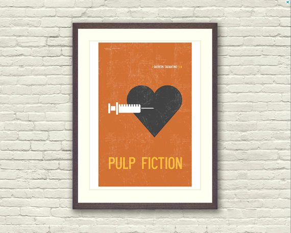 Pulp Fiction Minimalist Limited Edition Art Print