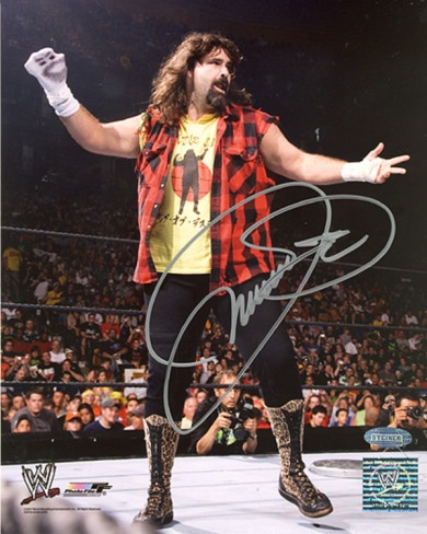 Mick Foley WWE - Mankind Sock On Hand Autographed Photo (Hand Signed Collectable) Photo from AllPosters.com