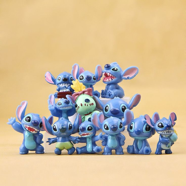 Lilo Stitch 12pcs 3cm Action Figures painted figure Stitch Dolls PVC