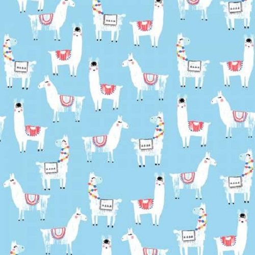 No Drama Llama Alpaca Fabric By Dear Stella White