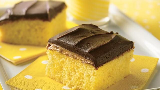 Peanut Butter Tandy Cake, so simple use a box yellow cake mix, this recipe is delicious! Taste like tastykake peanut butter tandy kakes!