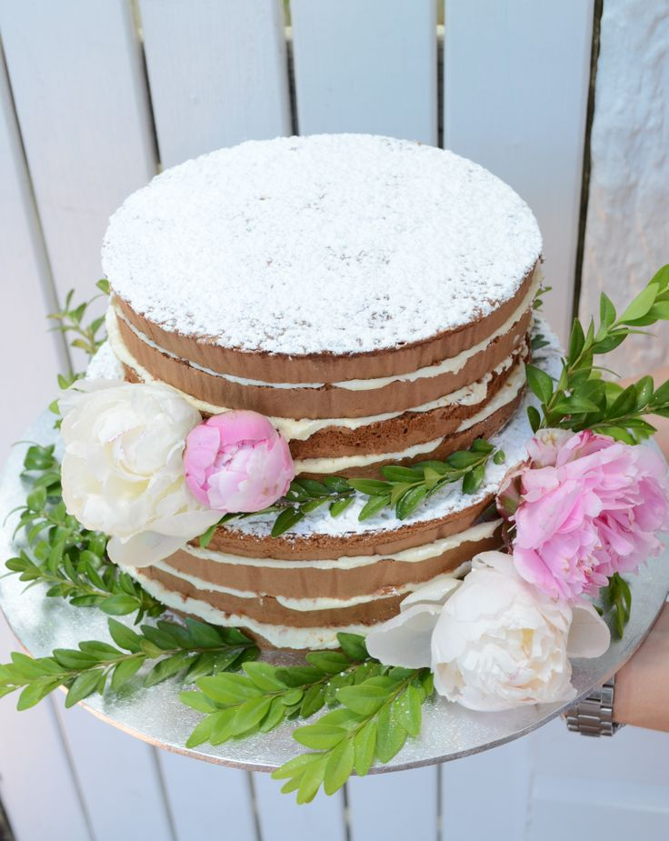 Rustic Wedding Cake - two tiered with cream cheese frosting