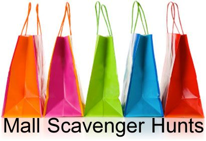 "8 Different Mall Scavenger Hunts to choose from!  All have FREE lists to print out (if needed).  Try the ""Freebie Mall Shopping Spree"" we created with a list of over 40 free things to find at the mall!"