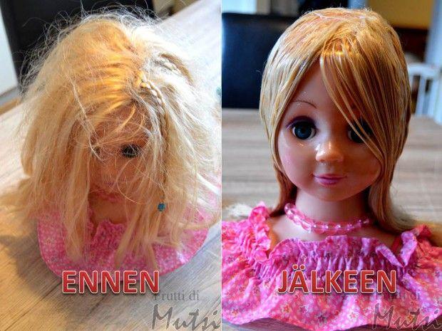 Suorista nuken hiukset helposti!