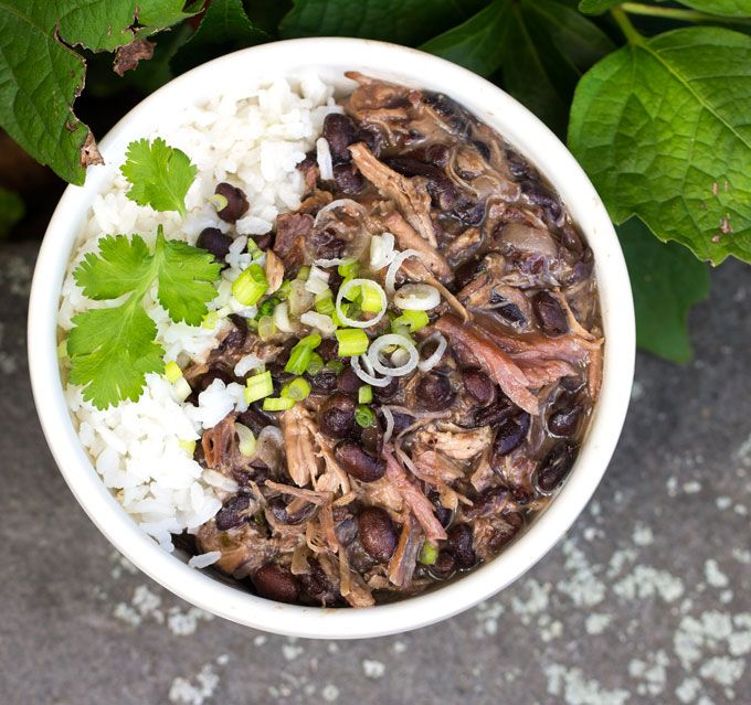 Slow cooker Brazilian Feijoada: A lightened up, slow-cooker version of Brazil's famous meat and bean stew • Panning The Globe