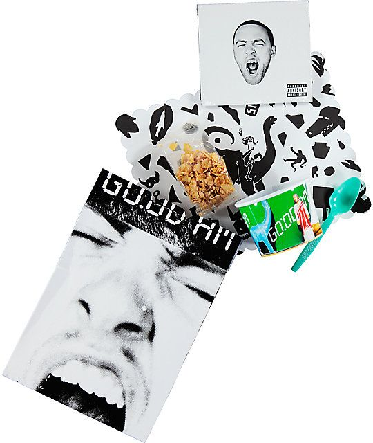 Start your day off right with a new Mac Miller Good AM special edition album that also includes a reusable bowl and single serving of cereal.