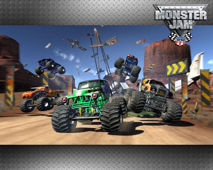 monster jam video game wallpaper monster trucks