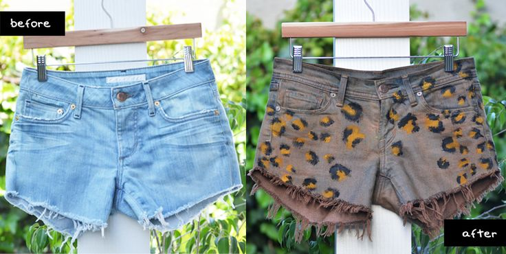 i posted before about the DIYable nature of leopard (or cheetah) print and now i've proven it by making my own pair of leopard print shorts! i started with a pair of denim jean shorts – which i made from a pair of darker denim jeans using the steps from this tutorial. i then dyed [...]