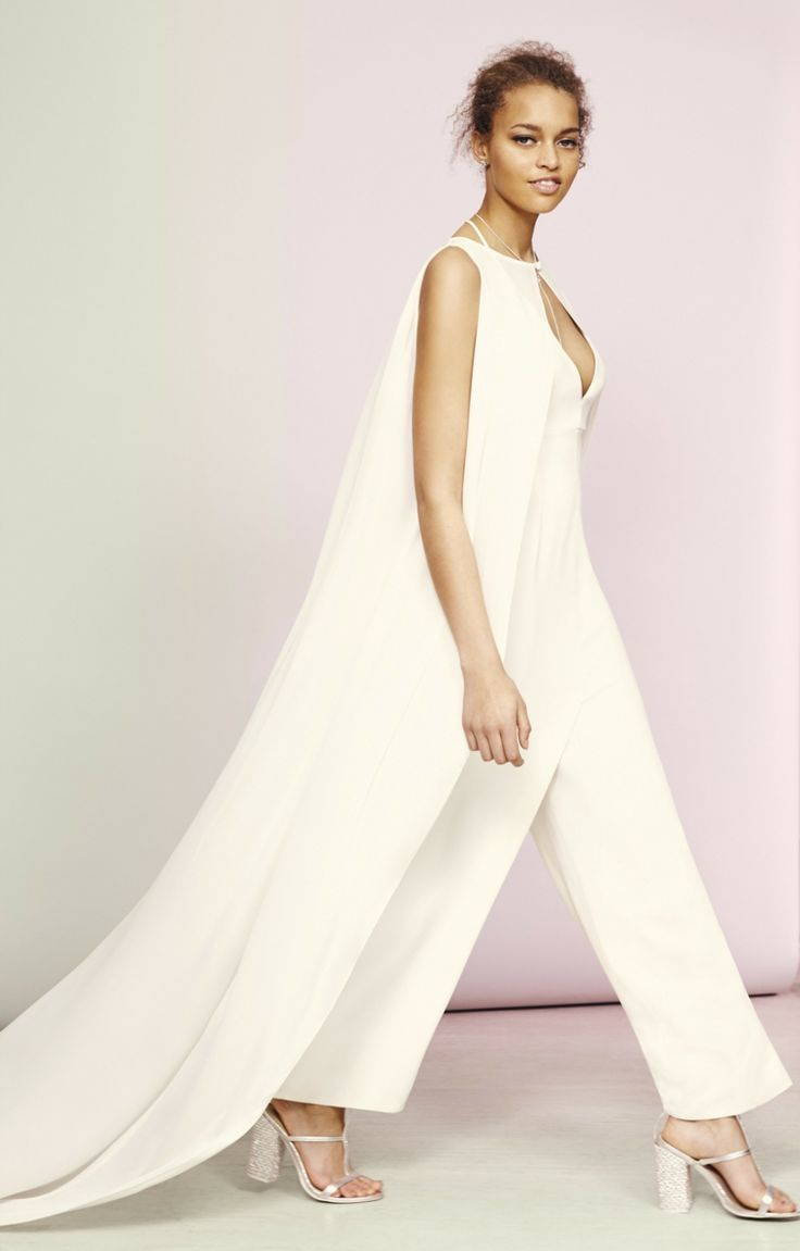 54 best white wedding suits for women images on pinterest - Jumpsuit hochzeit ...