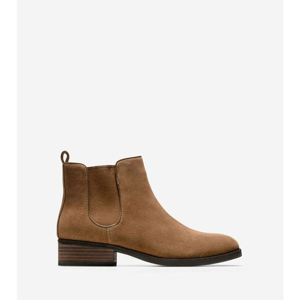 Cole Haan Womens Landsman Bootie ($115) ❤ liked on Polyvore featuring shoes,  boots