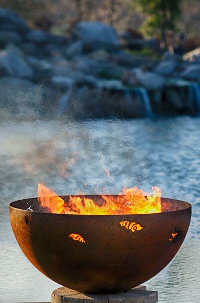 Beach Sea Shell Fire Pit | Custom Steel FirePit Sphere