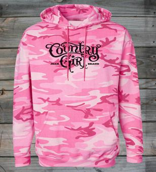 This hoodie runs large, click the Size & Fit link before selecting a size. Our Women's Camo Pullover hoodie has a fleece-lined hood with drawstring & a coverstitched pocket. This Country Girl ® favori