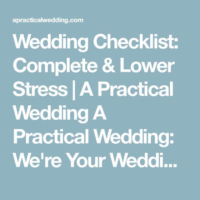 complete wedding checklist