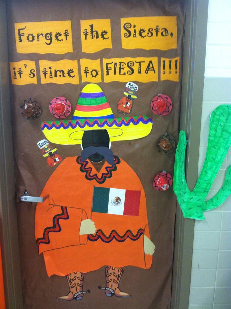 Foreign Language Classroom Decoration Ideas ~ Forget the siesta it s time to fiesta classroom door