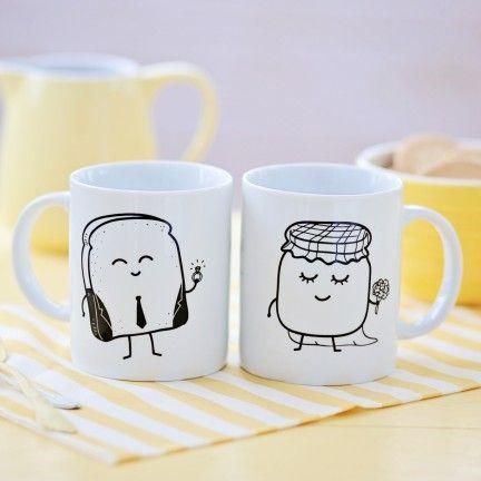 Set de 2 tazas Tostada y mermelada - Casados.