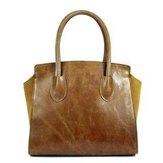 Letia - geanta din piele naturala - maro vintage
