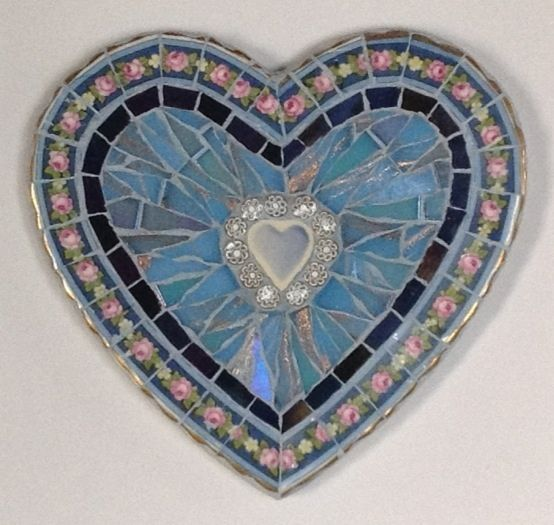 Vintage Mosaic Heart by Ruth Ames-White