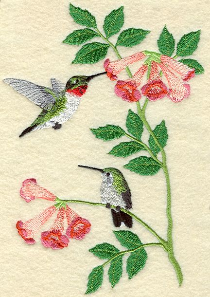 embroidery...hummingbirds