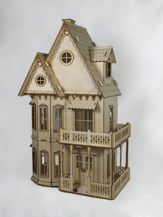 17 best ideas about dollhouse kits on pinterest doll for Victorian kit homes