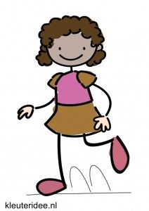 Bewegingskaart voor kleuters hinkelen, kleuteridee.nl, free printable moving cards for preschool
