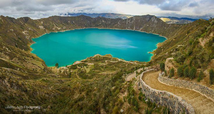Putování od jezera Quilotoa přes vesničky indiánů kmene Kečua v podhůří ekvádorských And