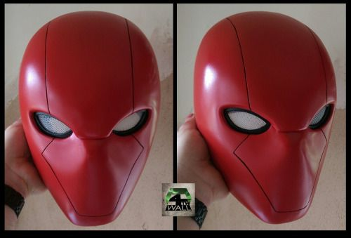 Red Hood Helmet available with custom lenses and to fit up to 26inches