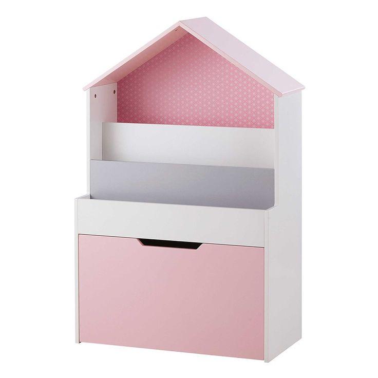 Bücherregal in Hausform, rosa | Maisons du Monde