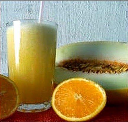 Receita de suco anticãibras: laranja e melão | Cura pela Natureza.com.br