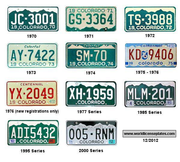 16 Best Colorado License Plates Images On Pinterest