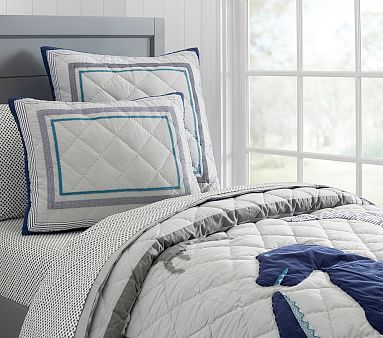 Dustin Dino Quilted Bedding #pbkids