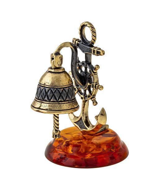 Baltic Amber souvenir art Bell with an by RussianSouvenirArt