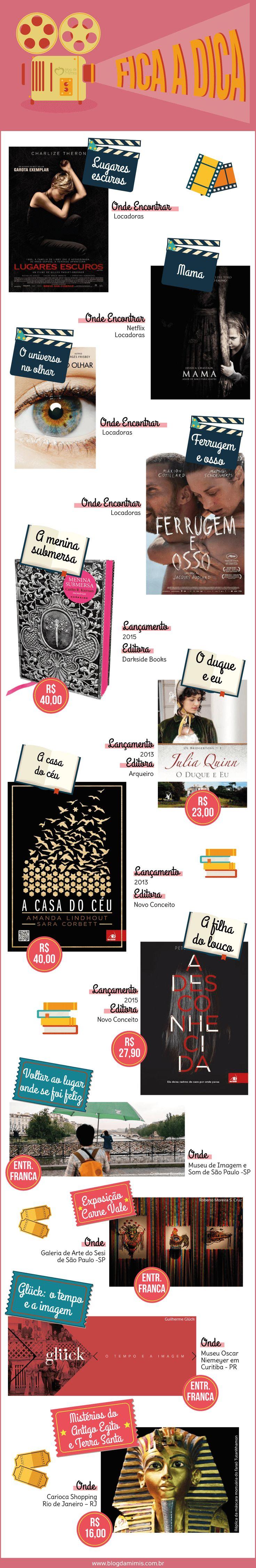Fica a Dica: janeiro - Blog da Mimis - Sugestões de livros, filmes, séries e exposições.