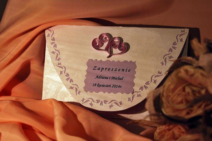 Zaproszenie ślubne wykonane przeze mnie ;) Zainteresowanych zapraszam do kontaktu priv ;)